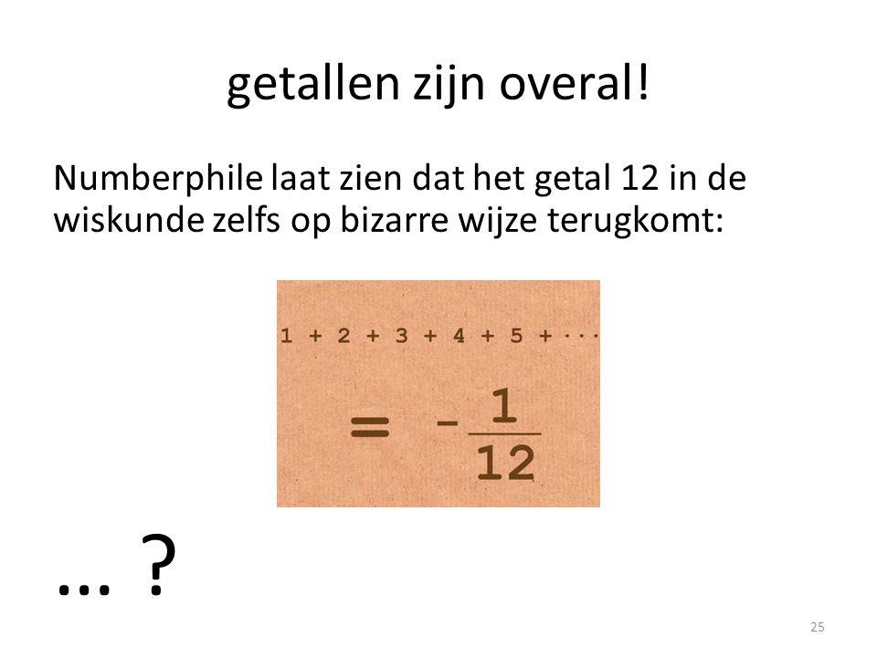 getallen zijn overal! Numberphile laat zien dat het getal 12 in de wiskunde zelfs op bizarre wijze terugkomt: