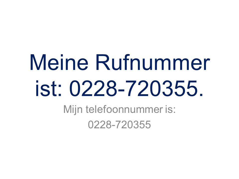 Mijn telefoonnummer is: 0228-720355