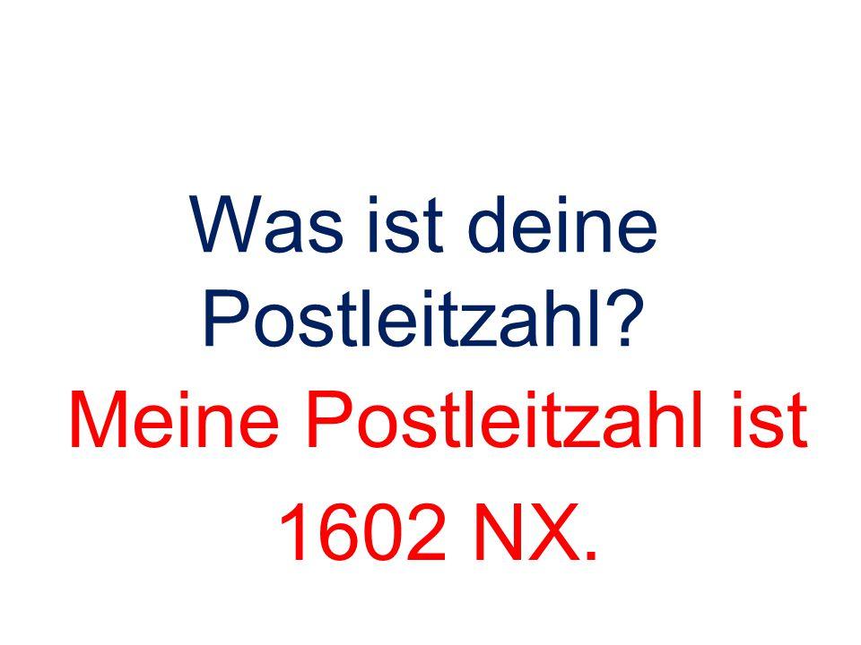 Was ist deine Postleitzahl