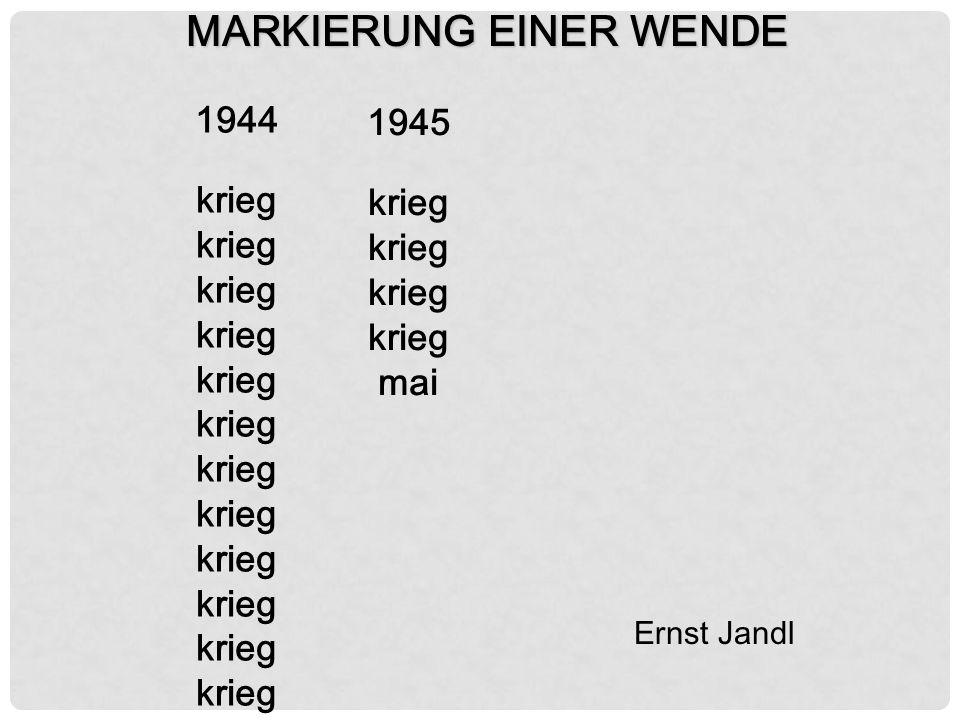 MARKIERUNG EINER WENDE