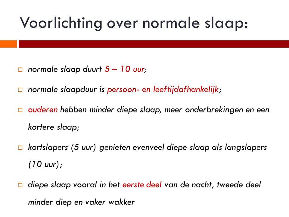 Voorlichting over normale slaap: