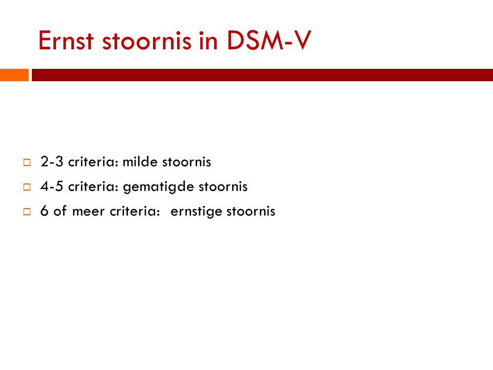 Ernst stoornis in DSM-V