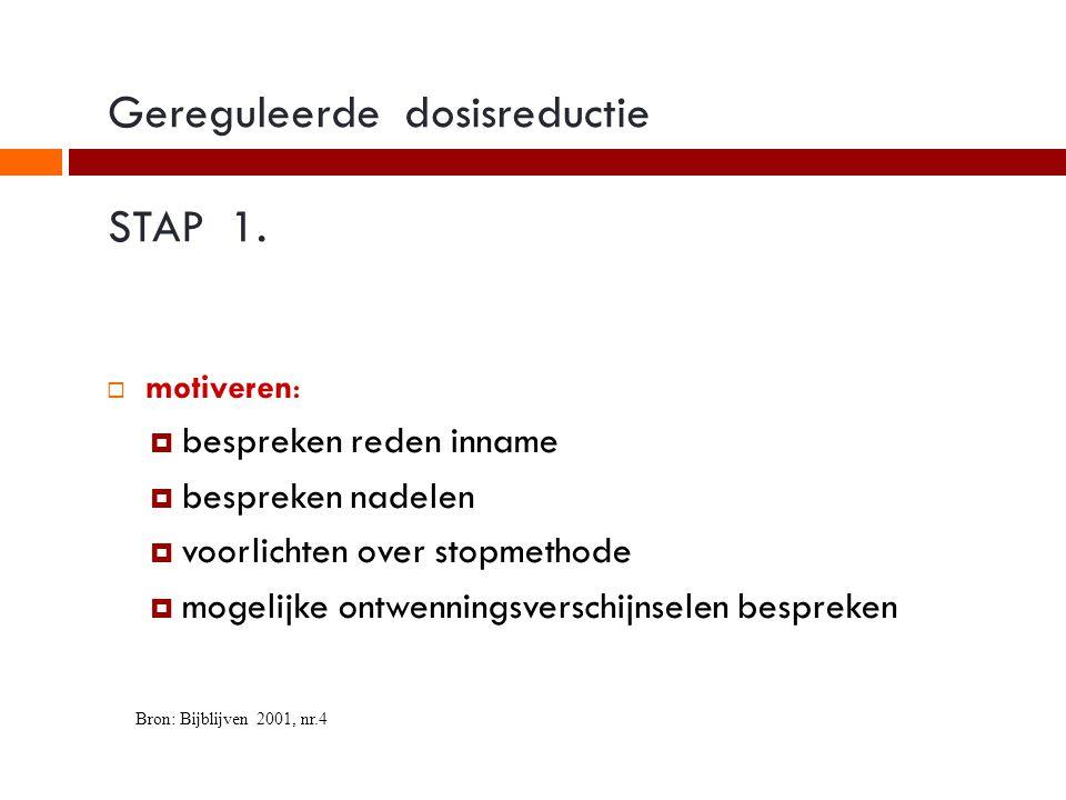 Gereguleerde dosisreductie STAP 1.