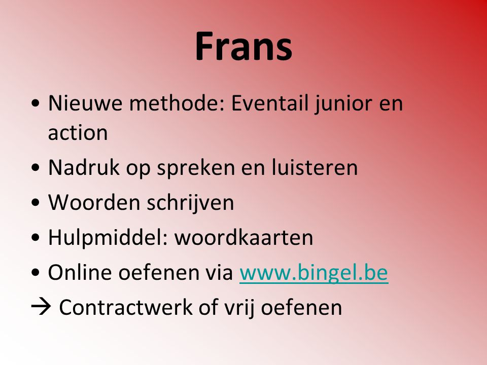 Frans Nieuwe methode: Eventail junior en action