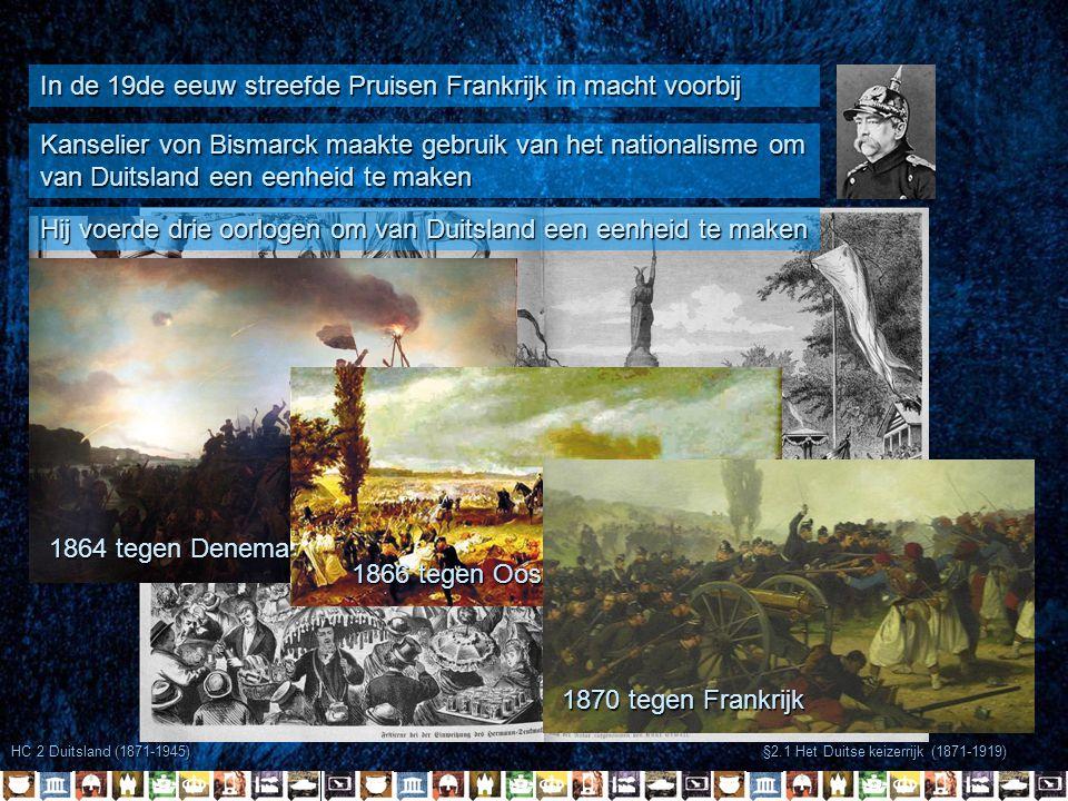 In de 19de eeuw streefde Pruisen Frankrijk in macht voorbij