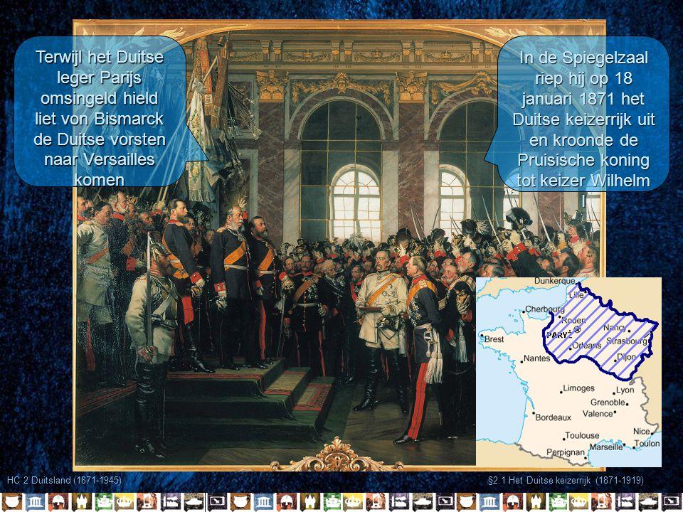 Terwijl het Duitse leger Parijs omsingeld hield liet von Bismarck de Duitse vorsten naar Versailles komen