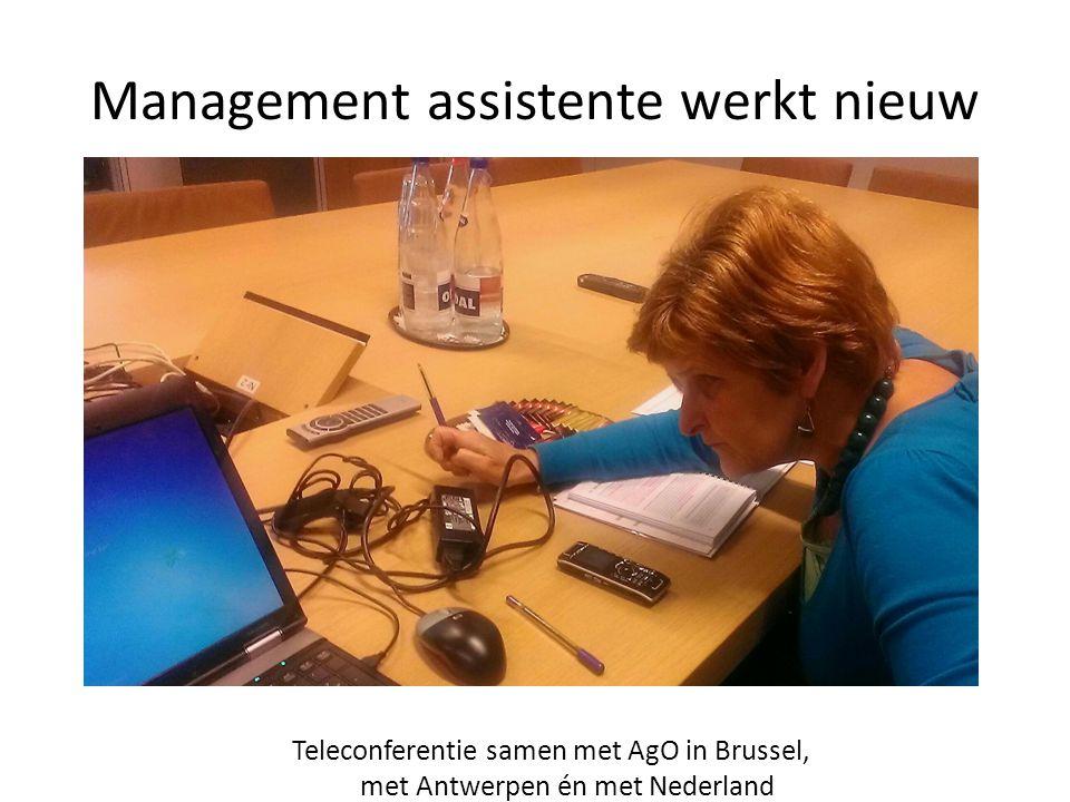Management assistente werkt nieuw