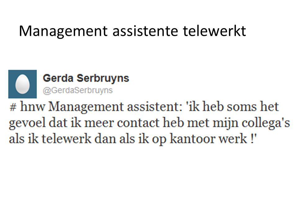 Management assistente telewerkt