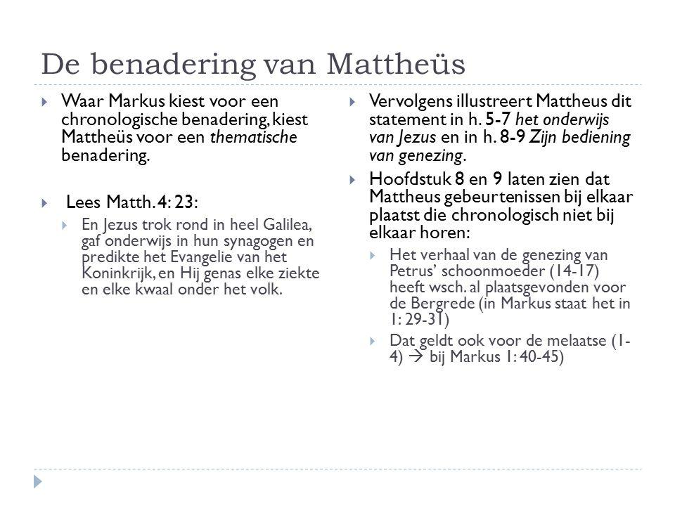 De benadering van Mattheüs