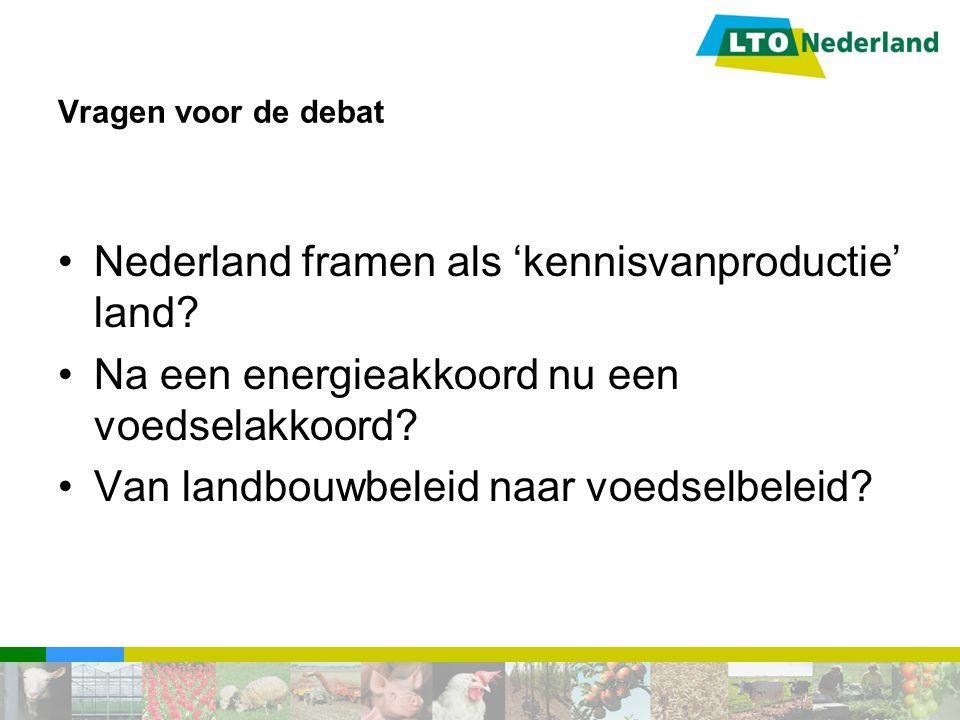 Nederland framen als 'kennisvanproductie' land