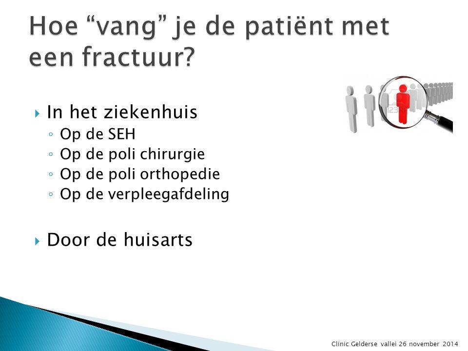 Hoe vang je de patiënt met een fractuur