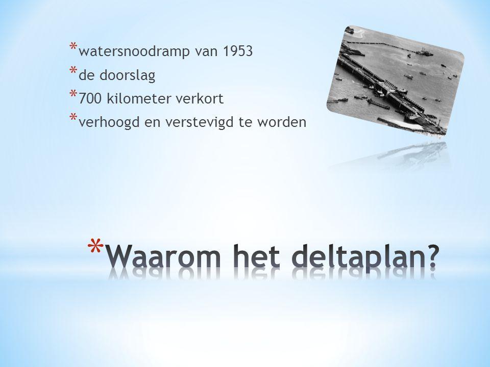 Waarom het deltaplan watersnoodramp van 1953 de doorslag