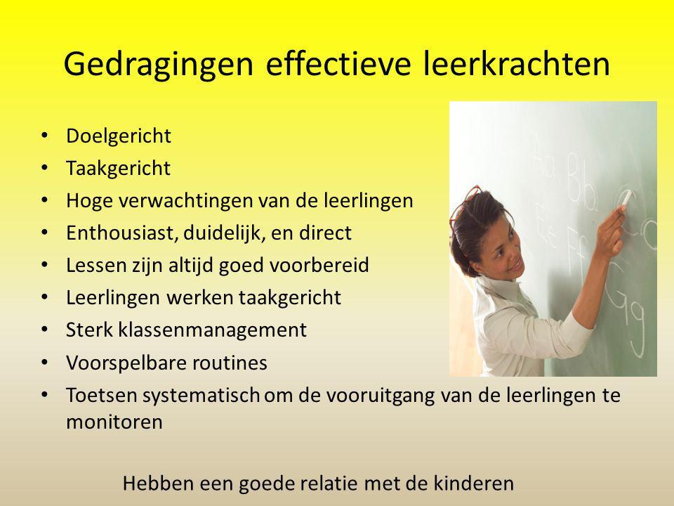 Gedragingen effectieve leerkrachten