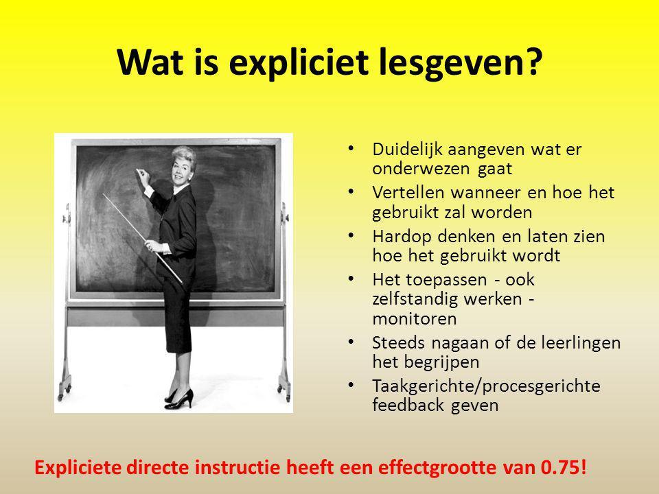 Wat is expliciet lesgeven