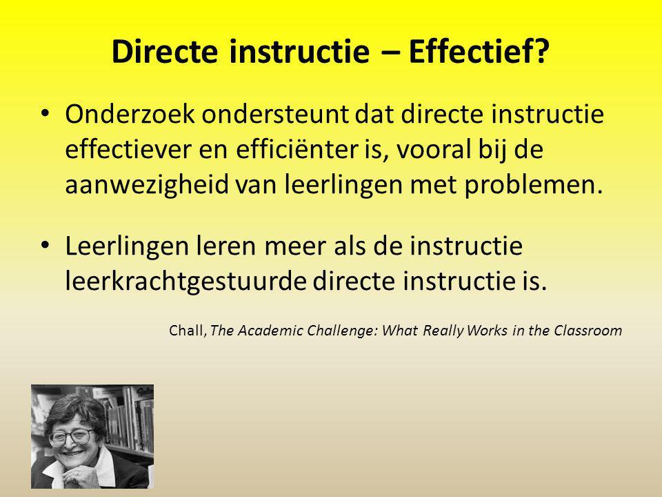 Directe instructie – Effectief