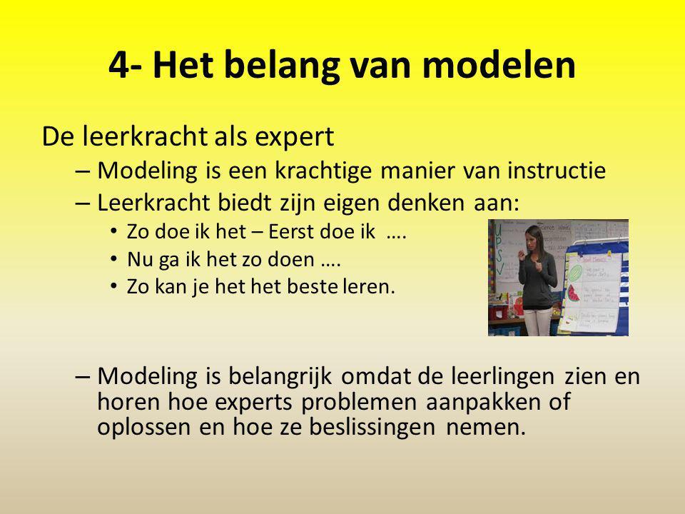 4- Het belang van modelen
