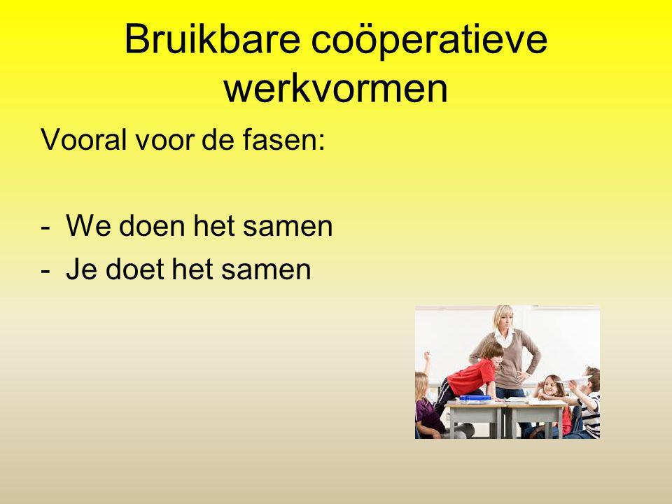 Bruikbare coöperatieve werkvormen