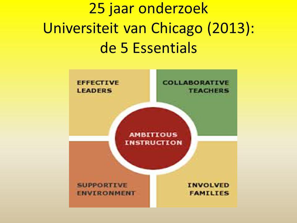 25 jaar onderzoek Universiteit van Chicago (2013): de 5 Essentials