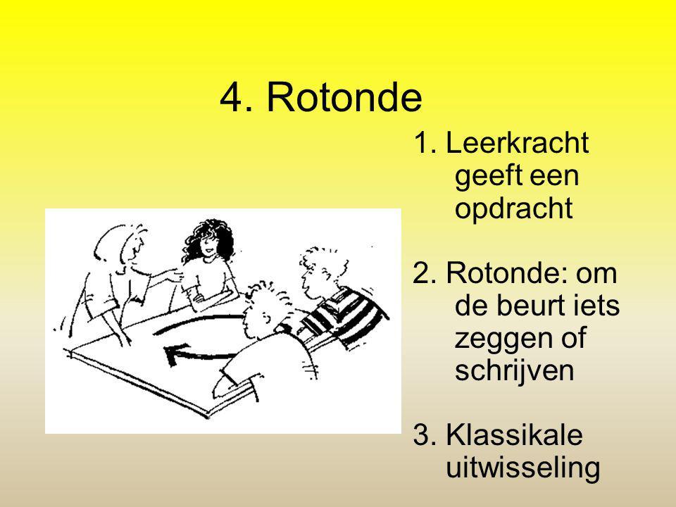 4. Rotonde 1. Leerkracht geeft een opdracht