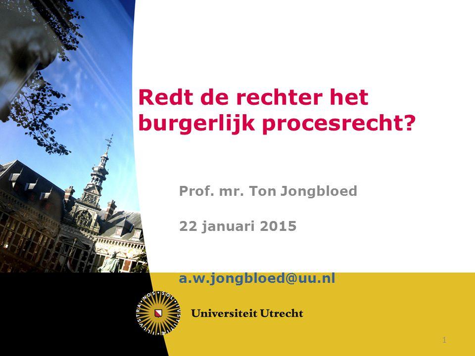 Redt de rechter het burgerlijk procesrecht