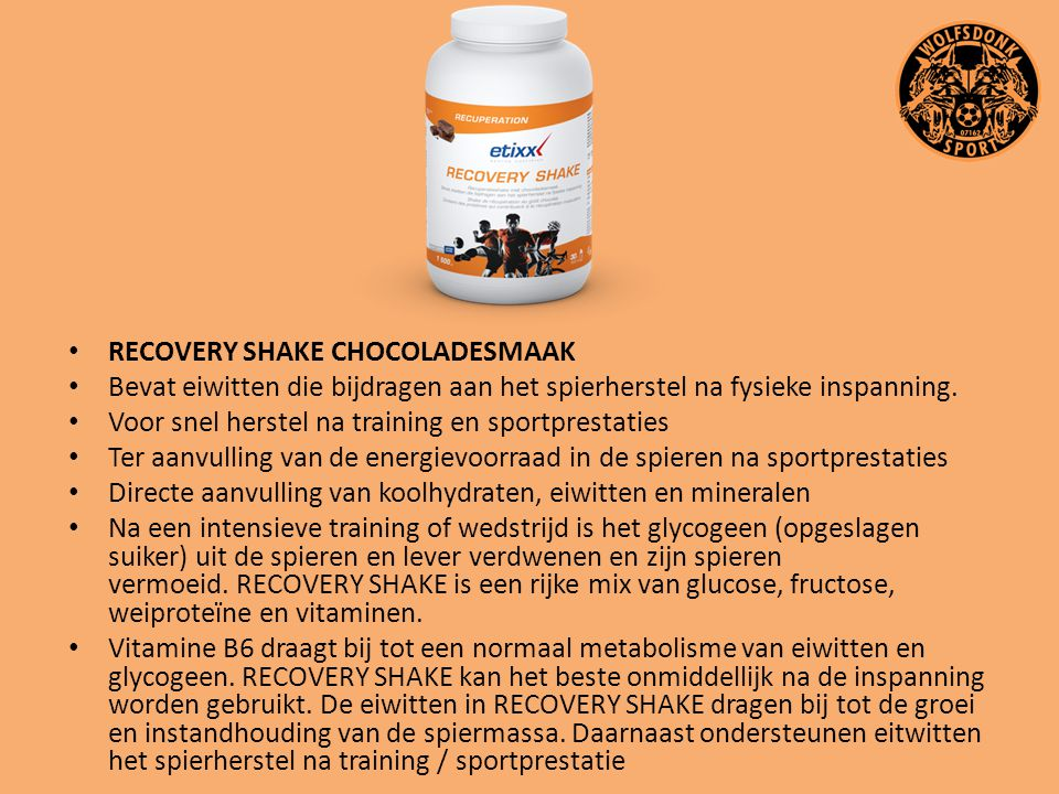 RECOVERY SHAKE CHOCOLADESMAAK