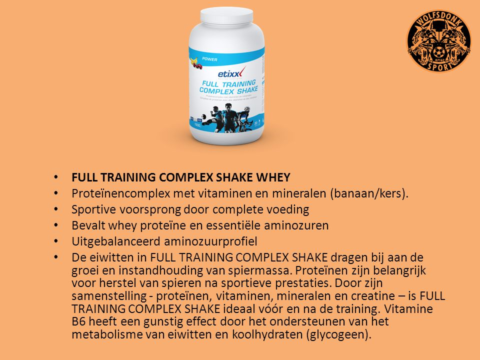 FULL TRAINING COMPLEX SHAKE WHEY