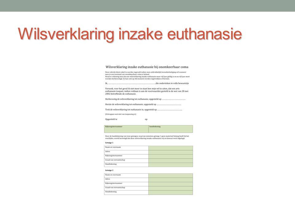Wilsverklaring inzake euthanasie