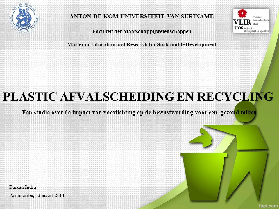 PLASTIC AFVALSCHEIDING EN RECYCLING