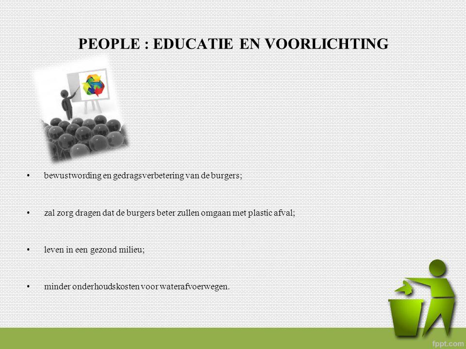 PEOPLE : EDUCATIE EN VOORLICHTING