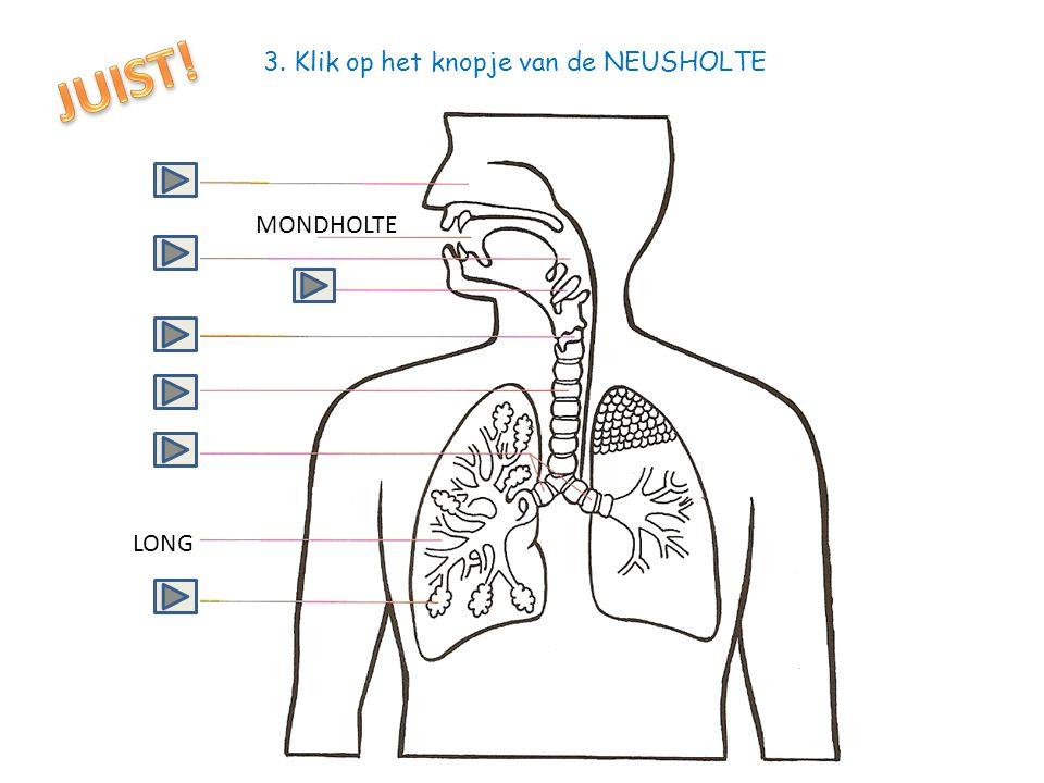 JUIST! 3. Klik op het knopje van de NEUSHOLTE MONDHOLTE LONG