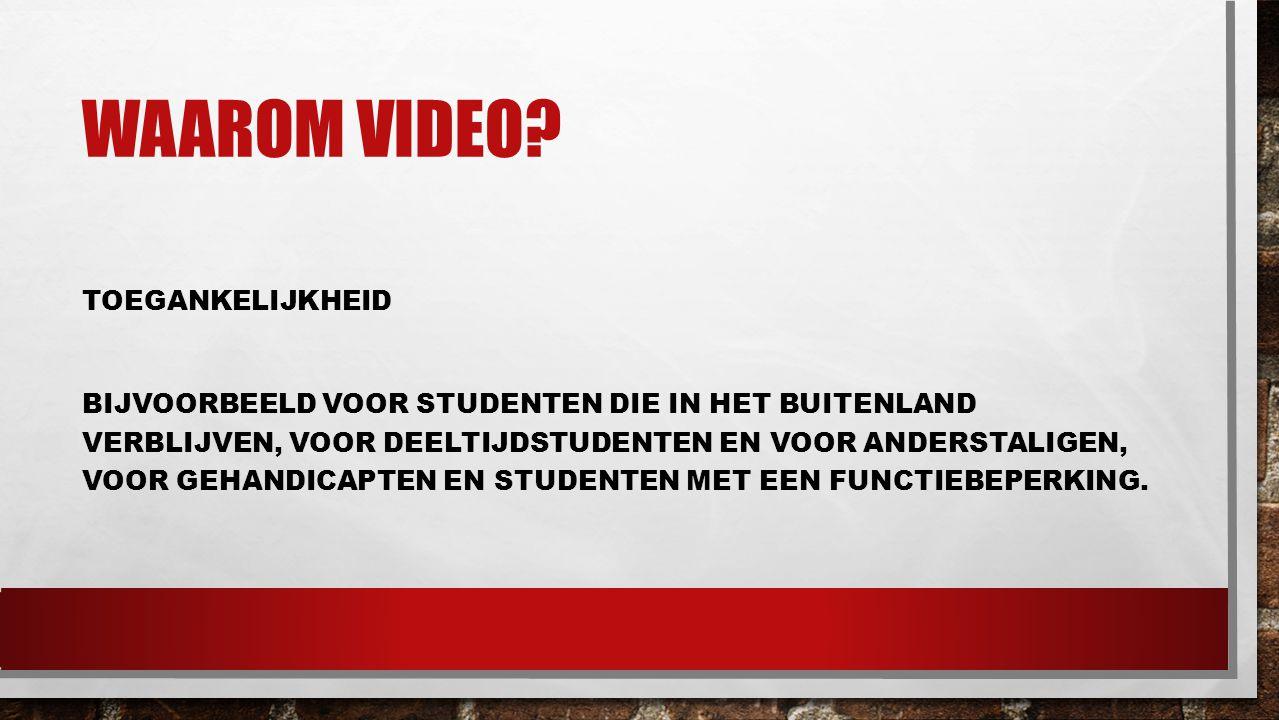 Waarom video