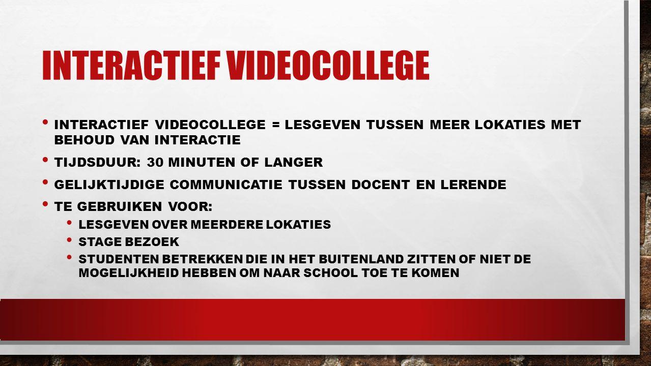Interactief videocollege