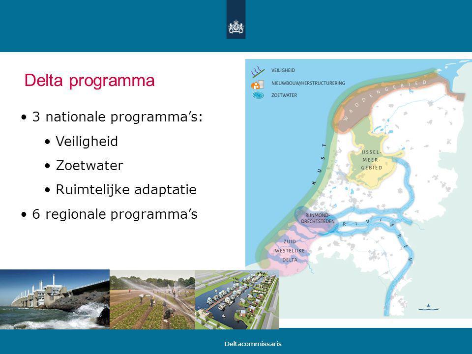 Delta programma 3 nationale programma's: Veiligheid Zoetwater