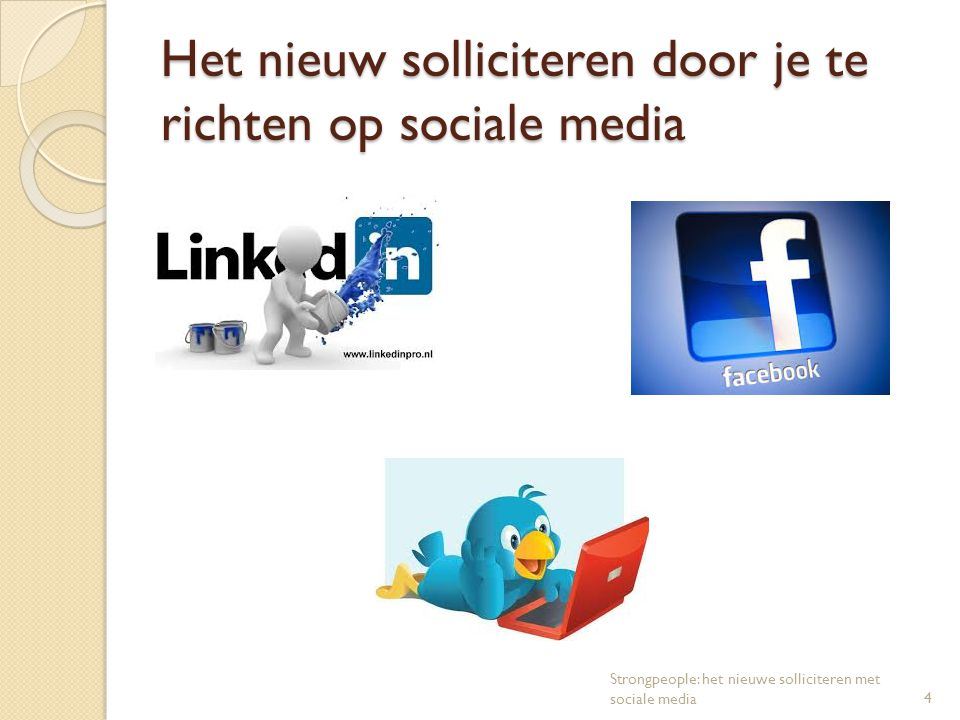 Het nieuw solliciteren door je te richten op sociale media