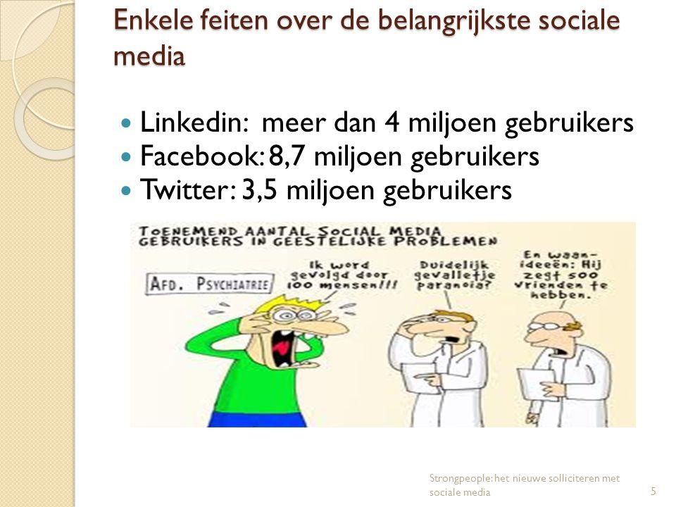 Enkele feiten over de belangrijkste sociale media