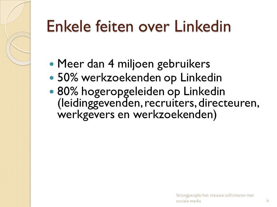 Enkele feiten over Linkedin