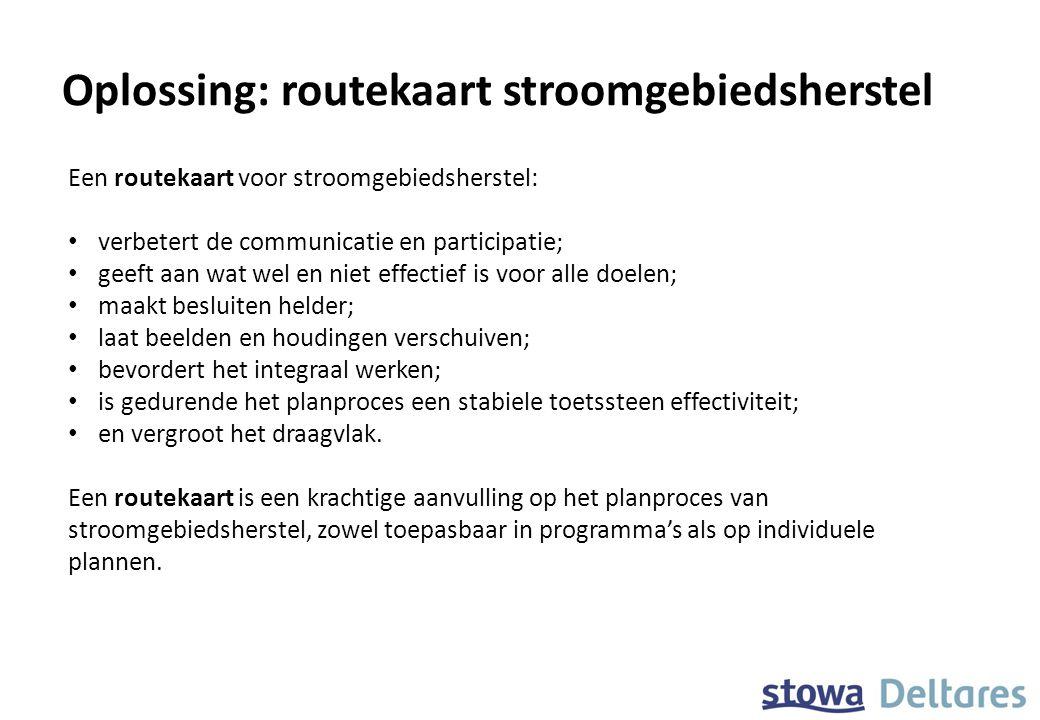 Oplossing: routekaart stroomgebiedsherstel