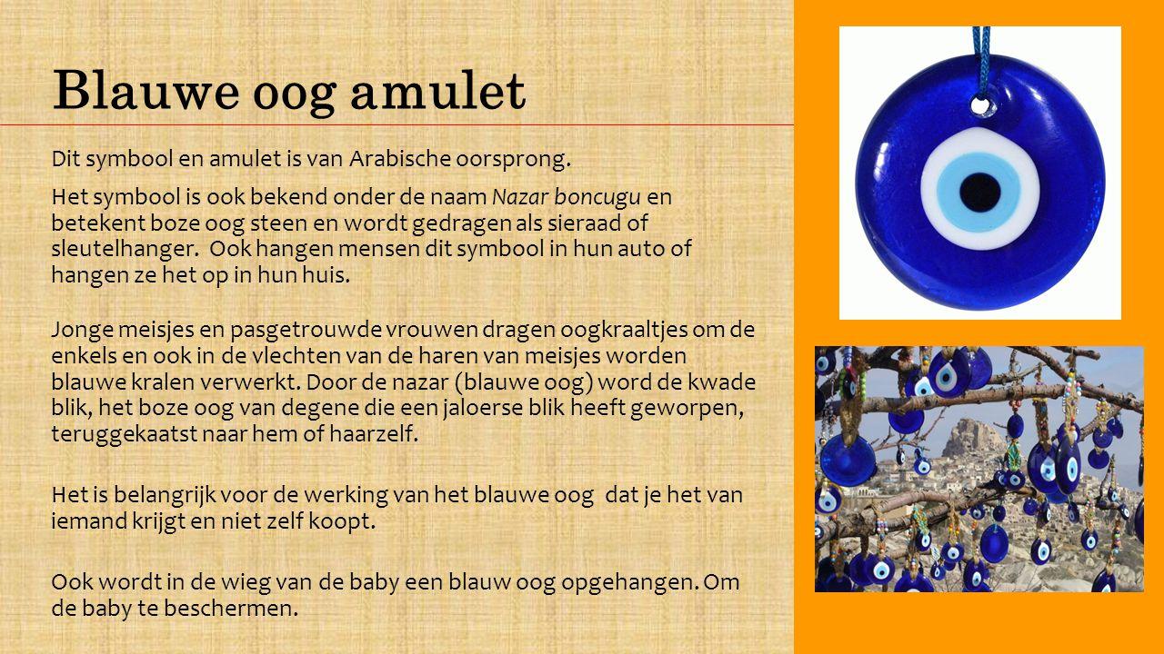 Blauwe oog amulet