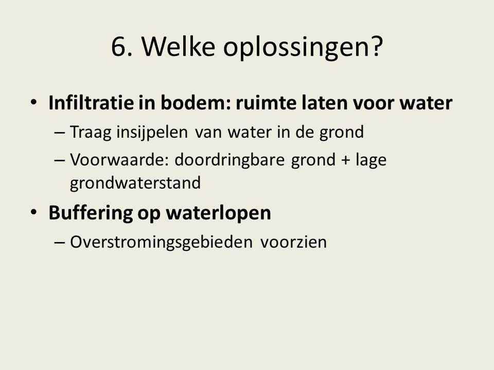 6. Welke oplossingen Infiltratie in bodem: ruimte laten voor water