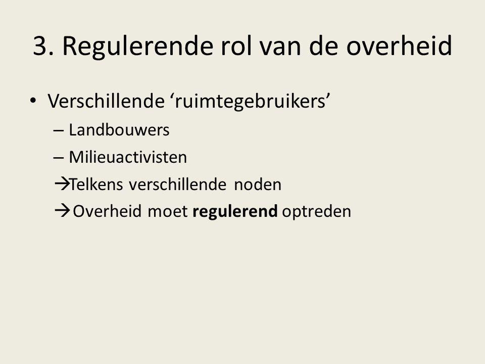 3. Regulerende rol van de overheid