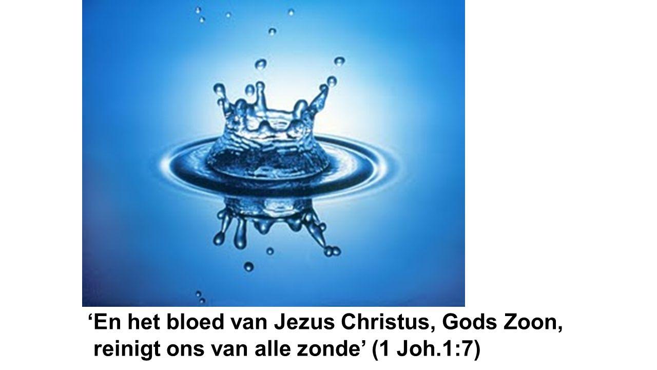 'En het bloed van Jezus Christus, Gods Zoon,