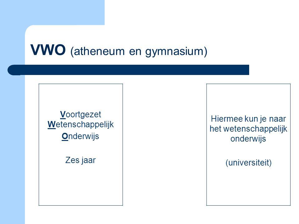 VWO (atheneum en gymnasium)