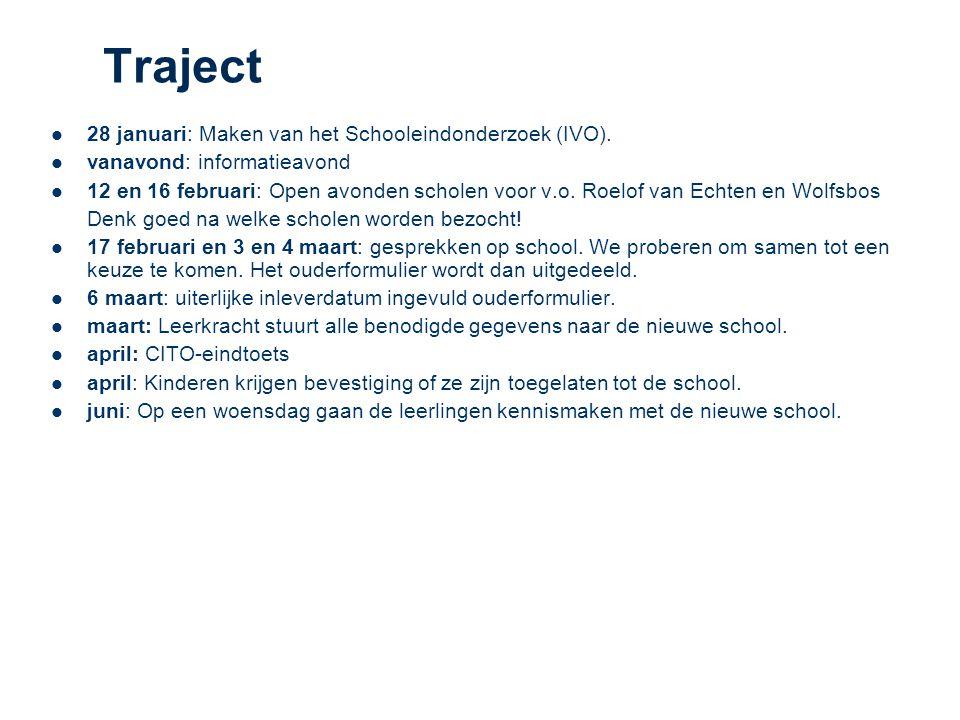 Traject 28 januari: Maken van het Schooleindonderzoek (IVO).