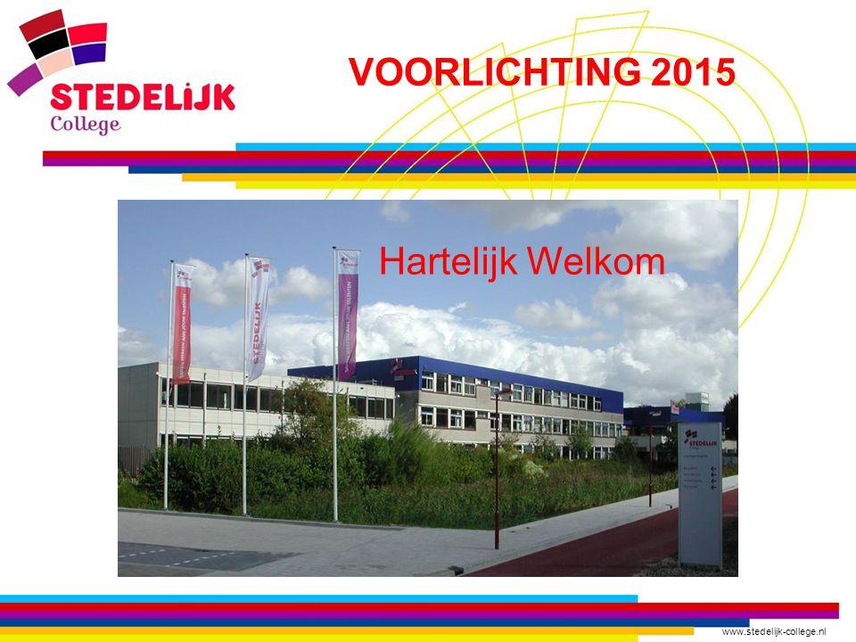 VOORLICHTING 2015 Hartelijk Welkom