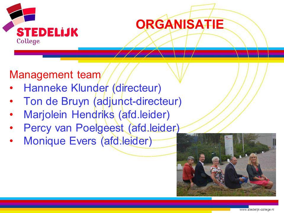 ORGANISATIE Management team Hanneke Klunder (directeur)
