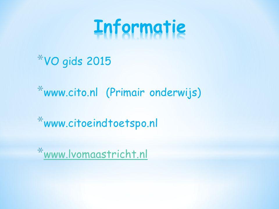 www.cito.nl (Primair onderwijs) www.citoeindtoetspo.nl