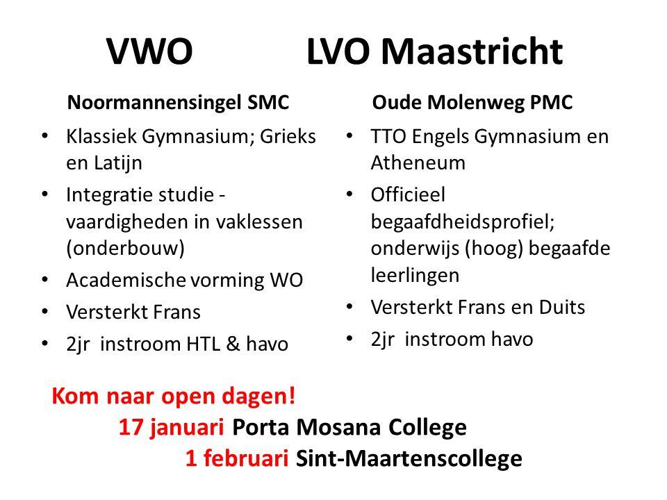 VWO LVO Maastricht Kom naar open dagen!