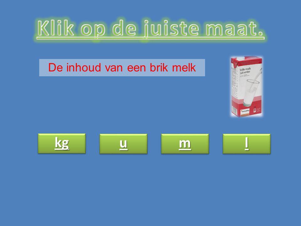 De inhoud van een brik melk