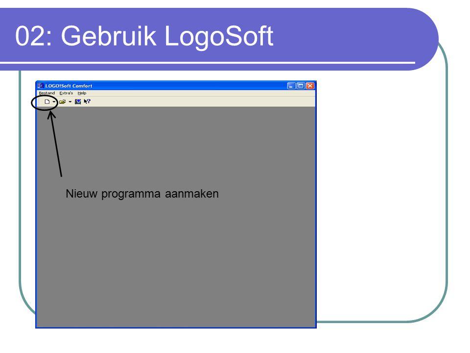 02: Gebruik LogoSoft Nieuw programma aanmaken