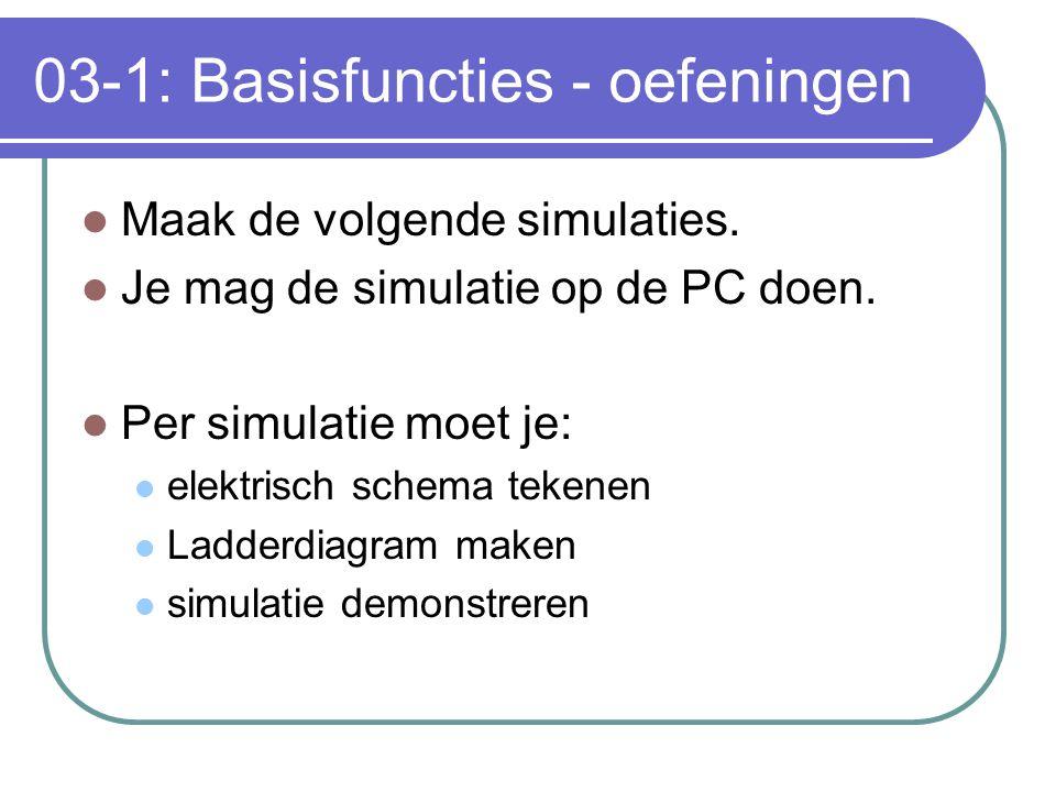 03-1: Basisfuncties - oefeningen